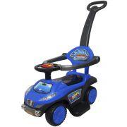 Carrinho Passeio Infantil Criança 3 em 1 Haste Empurrador Quadriciclo Azul Brinqway BW-059AZ