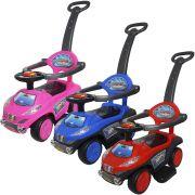 Carrinho Passeio Infantil Criança 3 em 1 Haste Empurrador Quadriciclo Brinqway BW-059