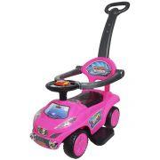 Carrinho Passeio Infantil Criança 3 em 1 Haste Empurrador Quadriciclo Rosa Brinqway BW-059RS