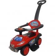 Carrinho Passeio Infantil Criança 3 em 1 Haste Empurrador Quadriciclo Vermelho Brinqway BW-059VM