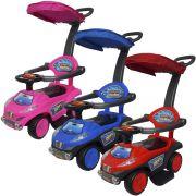 Carrinho Passeio Infantil Criança 4 em 1 Haste Empurrador Capota Quadriciclo Brinqway BW-060