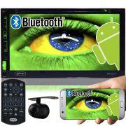 Central Multimídia 2 Din Automotivo Knup KP-C21 Dvd Tv Digital Wifi Android Bluetooth Gps Câmera Ré