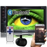 Central Multimídia 2 Din Universal 6.2 First Option SD Usb Bluetooth Tv Digital Gps Câmera de Ré