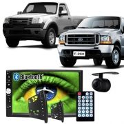 Central Multimídia Mp5 Ford Ranger F250 00/12 D720BT Moldura Bluetooth Câmera Ré