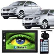 Central Multimídia Mp5 Polo Hatch/Sedan 03/13 D720BT Moldura Bluetooth Câmera Ré