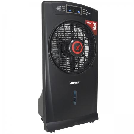 Climatizador Umidificador de Ar Portátil Frio 3 Litros 4 Velocidades 220V Amvox ACL 003-2 Preto