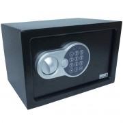 Cofre Digital Eletrônico 31x20x20 Senha Teclado Chave Residêncial Médio Importway IWCFS-004 Preto