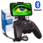 Controle Joystick Celular Bluetooth Android Iphone Ios Tablet Gamepad Exbom