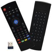 Controle Mini Teclado Air Mouse Wireless Sem Fio Android Pc Tv MX-3A 2,4 Ghz Preto