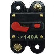 Disjuntor Automotivo 140A Tech One Proteção Som Bateria Resetável Liga Desliga