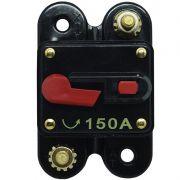 Disjuntor Automotivo 150A Tech One Proteção Som Bateria Resetável Liga Desliga