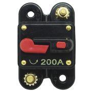 Disjuntor Automotivo 200A Proteção Som Bateria Fusível Resetável Liga Desliga Svart 0757