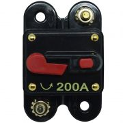 Disjuntor Automotivo 200A Tech One Proteção Som Bateria Resetável Liga Desliga