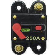 Disjuntor Automotivo 250A Proteção Som Bateria Fusível Resetável Liga Desliga Svart 0754