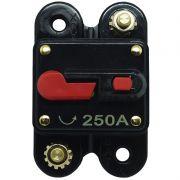 Disjuntor Automotivo 250A Tech One Proteção Som Resetável Liga Desliga