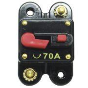 Disjuntor Automotivo 70A Proteção Som Bateria Fusível Resetável Liga Desliga Svart 0753
