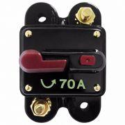 Disjuntor Automotivo 70A Proteção Som Bateria Resetável Liga Desliga