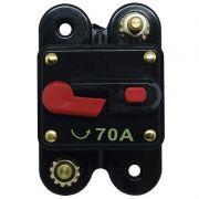 Disjuntor Automotivo 70A Tech One Proteção Som Bateria Resetável Liga Desliga