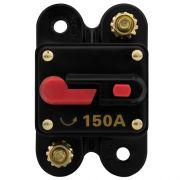 Disjuntor Automotivo 150A Tech One Proteção Som Resetável Liga Desliga