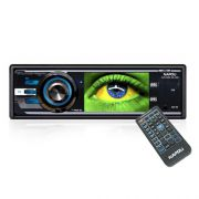 Dvd Automotivo 1 Din 3.0 Napoli DVD-9909 Sd Usb Iluminação Azul
