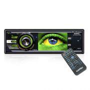 Dvd Automotivo 1 Din 3.2 Napoli DVD-9909 Sd Usb Iluminação Verde