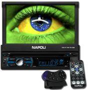 Dvd Automotivo 1 Din 7.0 Retrátil Napoli DVD-TV 7967 Sd Usb Bluetooth