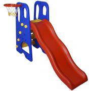 Escorregador Infantil 4 Degraus Plástico Playground Cesta Basque Bola Importway BW-053 Colorido