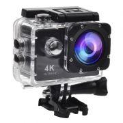 Filmadora 4K HD 1080p Câmera Digital 12MP Esporte Capacete Mergulho Moto Amvox ADC 840 Preta