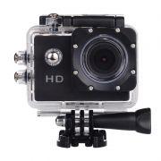 Filmadora HD 1080p Câmera Digital 5MP Esporte Capacete Mergulho Moto Amvox ADC 800 Preta Acessórios