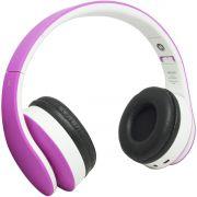 Fone Ouvido Headphone Bluetooth Sem Fio Dobrável Estéreo Fm Sd Mp3 P2 Exbom HF-400BT Rosa Branco