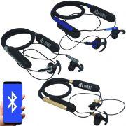 Fone Ouvido Headphone Bluetooth Sem Fio Esporte Flexível Estéreo Vibra Infokit HBT-82