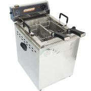 Fritadeira Elétrica Água Óleo 25 Litros 8000W Mesa Bancada 220V Industrial Profissional Turbo Inox