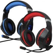 Headset Gamer Fone Ouvido Microfone Scorpion Bass Led Pc Celular Jogos Infokit GH-X1000 XSoldado