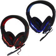Headset Gamer Ps4 Fone Ouvido com Microfone Usb P2 Led Celular Jogos Exbom HF-G390P4 Preto