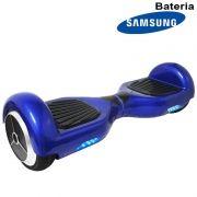 Hoverboard Skate Elétrico 2 Rodas 6,5 Polegadas Bateria Samsung Cor Azul Original Barato
