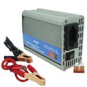 Inversor Conversor 12V para 110V Potência 500W Veicular Transformador Tensão Leboss LB-507 Cinza