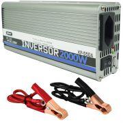 Inversor Conversor 12V para 220V Potência 2000W Veicular Transformador Tensão Knup KP-550A Cinza