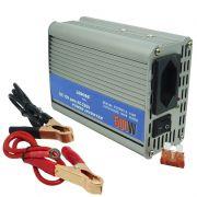 Inversor Conversor 12V para 220V Potência 500W Veicular Transformador Tensão Leboss LB-507A Cinza