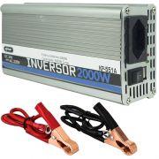 Inversor Conversor 24V para 220V Potência 2000W Veicular Transformador Tensão Knup KP-551A Cinza