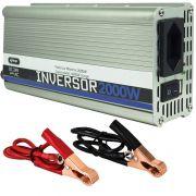 Inversor Conversor 24V Potência 2000W Veicular Transformador Tensão Knup KP-551 Cinza