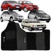 Jogo de Tapete Automotivo Carpete Volkswagen Vw Gol G4 2006 à 2014 Soft Logo Bordado 5 Peças
