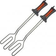 Kit 2 Acendedores Elétrico para Churrasqueiras a Carvão e Lareiras 750W Cotherm AC 500 Inox
