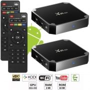 Kit 2 Aparelhos Conversor Smart Box Tv Quad Core 16Gb X96 Mini 4K Android 7.1 3D HD Hdmi Usb Wifi