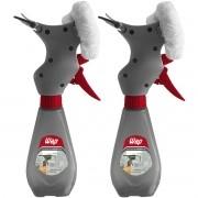 Kit 2 Rodo Limpa Vidro Mop Borrifador Spray 3 em 1 com Reservatório 300 ml Manual Wap FW006126