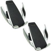 Kit 2 Suporte Carregador Veicular Carro Celular Wireless S/ Fio QI Turbo Sensor Next Trading S5 3375