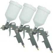 Kit 3 Pistolas Pintura Gravidade Convencional Profissional 3 Bicos 1,2 1,5 1,8mm Importway IWPPG-3B