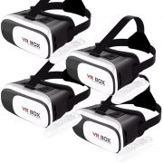 Kit 4 Óculos Vr Box 2.0 3D Realidade Virtual P/ Celular Smartphone Andoid e Ios + Controle Bluetooth