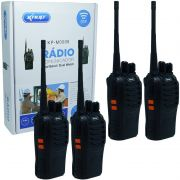 Kit 4 Rádios Comunicador HT Walk Talk UHF 16 Canais Profissional Knup KP-M0008 Preto Bivolt