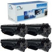 Kit 4 Toners para Impressora Hp 85A 285A Compatível Novo P1102w 1120 1132 1212 Multilaser Preto