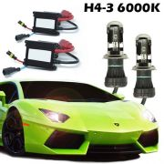 Kit Bi Xenon Carro 12V 35W H4-3 6000K